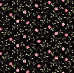 MAYWOOD STUDIO - Wild Rose Flannel - Little Buds - Black