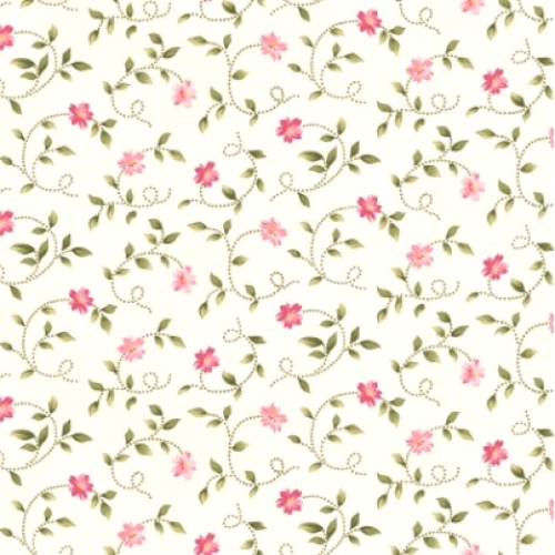 MAYWOOD STUDIO - Wild Rose Flannel - Little Buds - Winter White