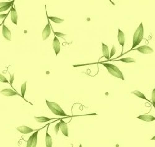 MAYWOOD STUDIO - Sweet Pea Flannel - Tossed Leaves - Green