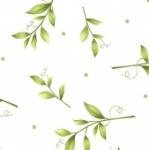 MAYWOOD STUDIO - Sweet Pea Flannel - Tossed Leaves - White