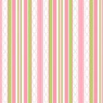 MAYWOOD STUDIO - Sweet Pea Flannel - Stripe - White