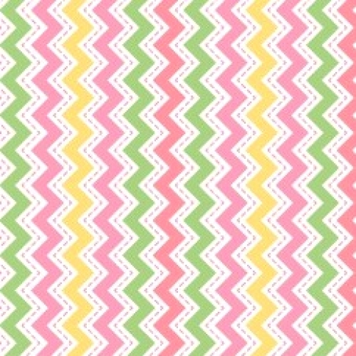 MAYWOOD STUDIO - Lil' Sprout Flannel Too - Zig Zag - Pink