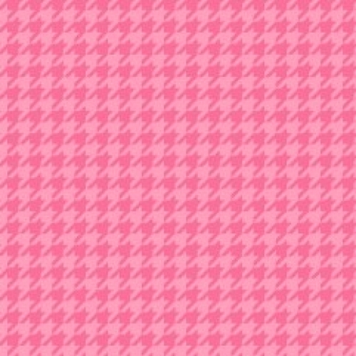 MAYWOOD STUDIO - Lil' Sprout Flannel Too - Houndstooth - Pink