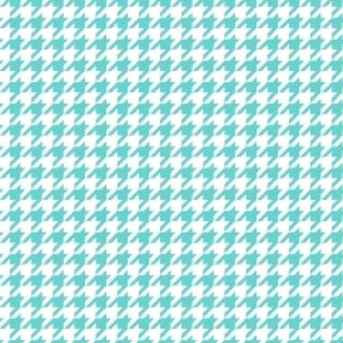 MAYWOOD STUDIO - Lil' Sprout Flannel Too - Houndstooth - White/Teal