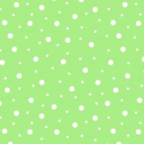 MAYWOOD STUDIO - Lil' Sprouts Flan Too - Kim Christopherson - Random Dots - Green - White