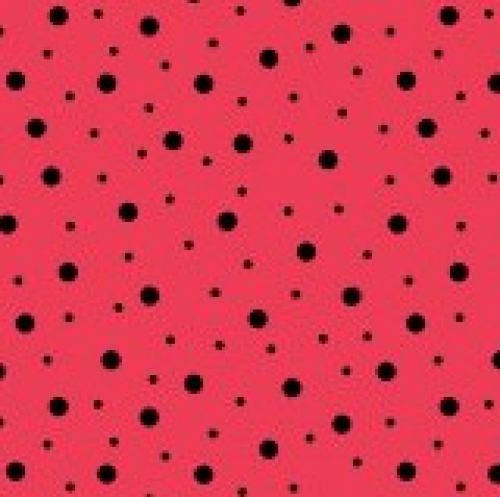 MAYWOOD STUDIO - Lil' Sprouts Flan Too - Kim Christopherson -  - Random Dots - Red - Soft Black