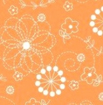 MAYWOOD STUDIO - Lil' Sprouts Flan Too - Kim Christopherson - Doodles - Orange