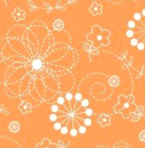MAYWOOD STUDIO - Lil' Sprouts Flan Too - Kim Christopherson - Doodles - Orange