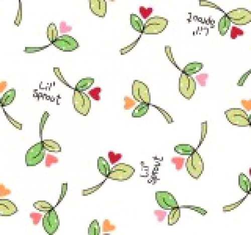 MAYWOOD STUDIO - Lil' Sprouts Flan Too - Kim Christopherson - Sprouts N' Hearts Tossed - White