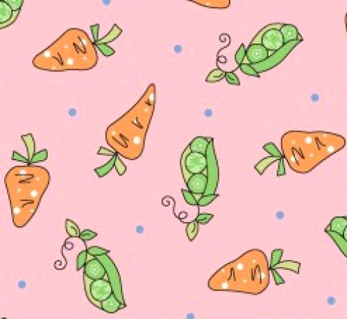 MAYWOOD STUDIO - Lil' Sprouts Flan Too - Kim Christopherson - Peas N' Carrots - Pink