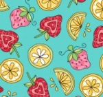 MAYWOOD STUDIO - Lil' Sprouts Flan Too - Kim Christopherson - Strawberries N' Lemons - Teal