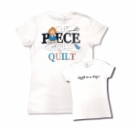 White Medium Cut Piece Press & Quilt T-Shirt