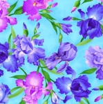 TIMELESS TREASURES - Meadow - All Over Iris - Blue
