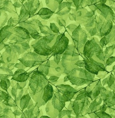 TIMELESS TREASURES - Meadow - Leaves - Green