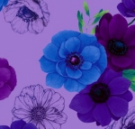 TIMELESS TREASURES - Misty by Chong-a Hwang - All Over Flowers - Violet