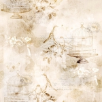 HOFFMAN - Vintage Farmhouse by McKenna Ryan Designs - Birds In Cages - Parchment