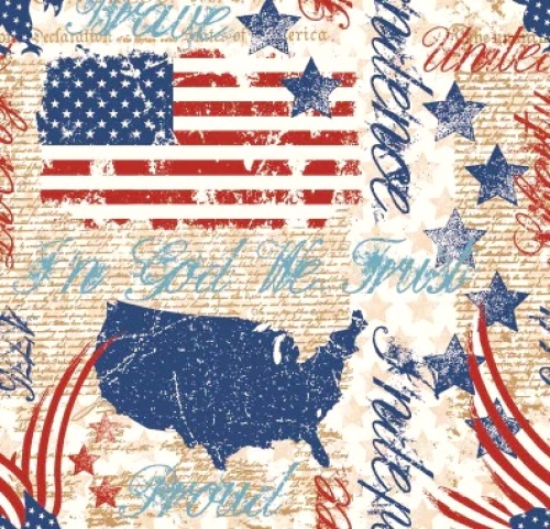 MIDWEST TEXTILES - River Bend - Stars of Valor - White
