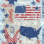MIDWEST TEXTILES - River Bend - Stars of Valor - Blue/Red