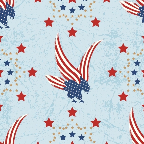 MIDWEST TEXTILES - River Bend - Stars of Valor - Blue