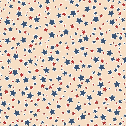 MIDWEST TEXTILES - River Bend - Stars of Valor - Tan