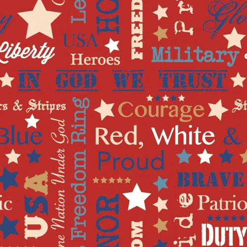 MIDWEST TEXTILES - River Bend - Stars of Valor - Red
