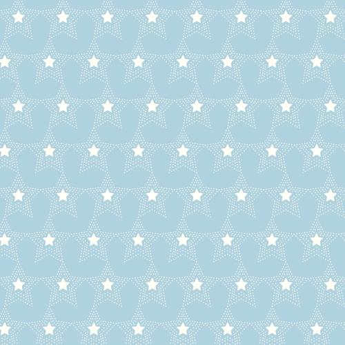 MIDWEST TEXTILES - River Bend - Stars of Valor - Light Blue