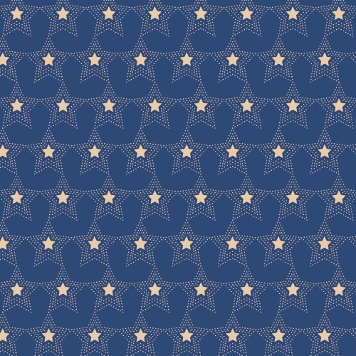 MIDWEST TEXTILES - River Bend - Stars of Valor - Blue - #1632-