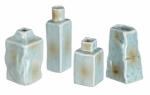 Sullivans Set of 4 Stone Look Ceramic Mini Vases