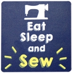 Eat Sleep and SEW - Sewing Themed Coaster