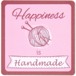 Happiness is Handmade - Sewing Themed Coaster