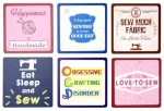 Sewing Themed Coaster Set of 6