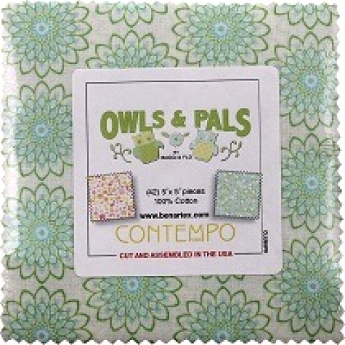 by the Yard Owls and Pals by Maggie and Flo for Benartex