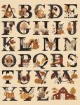 RILEY BLAKE - Bountiful Autumn - Fall Alphabet Panel - Multi - PL560