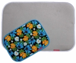 Combo Silicone Ironing Mat Set Classic Silver & Mini Blue