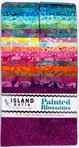 Island Batiks - Painted Blossoms 2.5 Inch Strip Pack