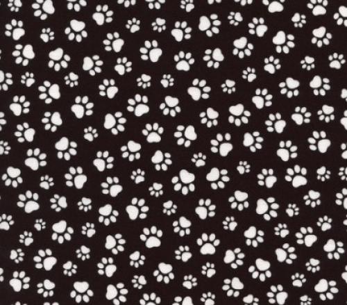 TIMELESS TREASURES - Paw - Paw Print - Black/White
