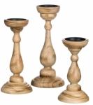 Sullivans Wood Pillar Candle Holder Set