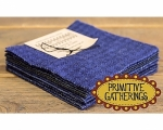 Primitive Gatherings - 5 Inch Navy Wool Charm Pack