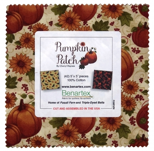 Benartex - Pumpkin Patch by Cheryl Haynes 5X5 Pack
