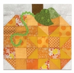Pennys Patchwork Pumpkin Block Kit - Fun on the Farm