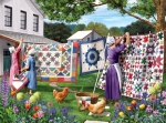 Puzzle - Quilts in the Backyard 500 pcs