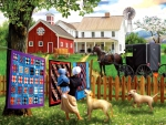 Puzzle - Family Homestead 500 pc by SunsOut