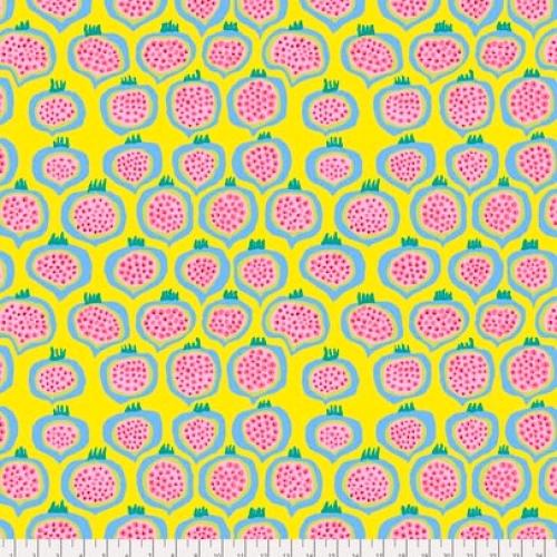 FREE SPIRIT - Kaffe Fassett - Spring 2018 - Pomegranate - Yellow - #1488-