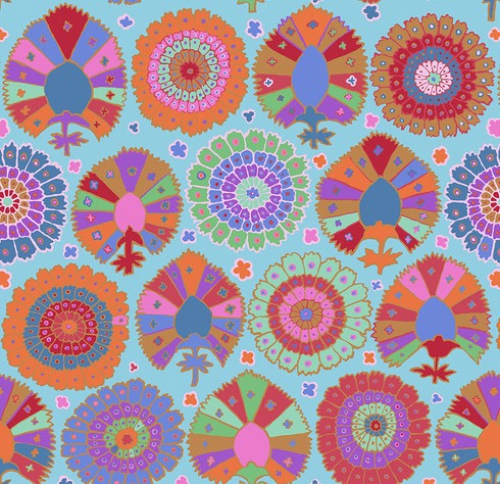 FREE SPIRIT - Kaffe Fassett Collective - Spring 2019 - Turkish Delight - Aqua -