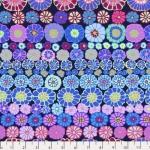 FREE SPIRIT -Kaffe Fassett Collection - Spring 2019 -  Row Flowers - Blue