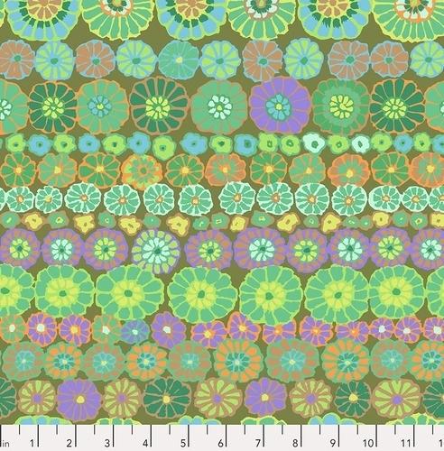 FREE SPIRIT - Kaffe Fassett Collective - Spring 2019 - Row Flowers - Green