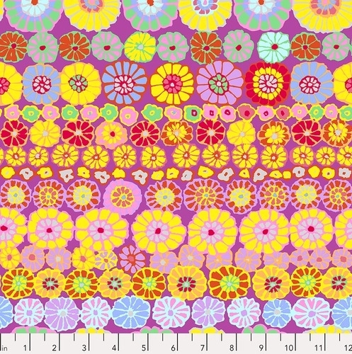 FREE SPIRIT - Kaffe Fassett Collective - Spring 2019 - Row Flowers - Pink