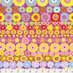 FREE SPIRIT - Kaffe Fassett Collective - Spring 2019 - Row Flowers - Pink