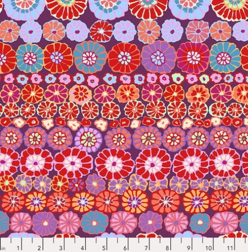 FREE SPIRIT - Kaffe Fassett Collective - Spring 2019 - Row Flowers - Red