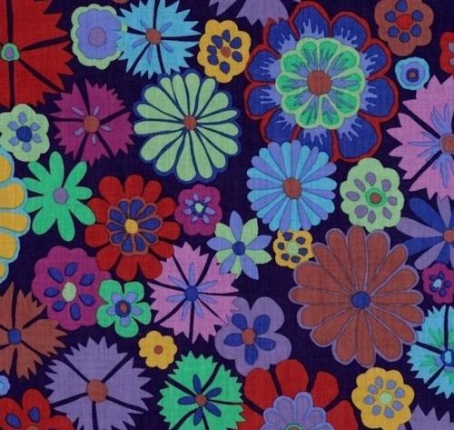 FREE SPIRIT - Kaffe Fassett - Artisan - Purple Folk Flower